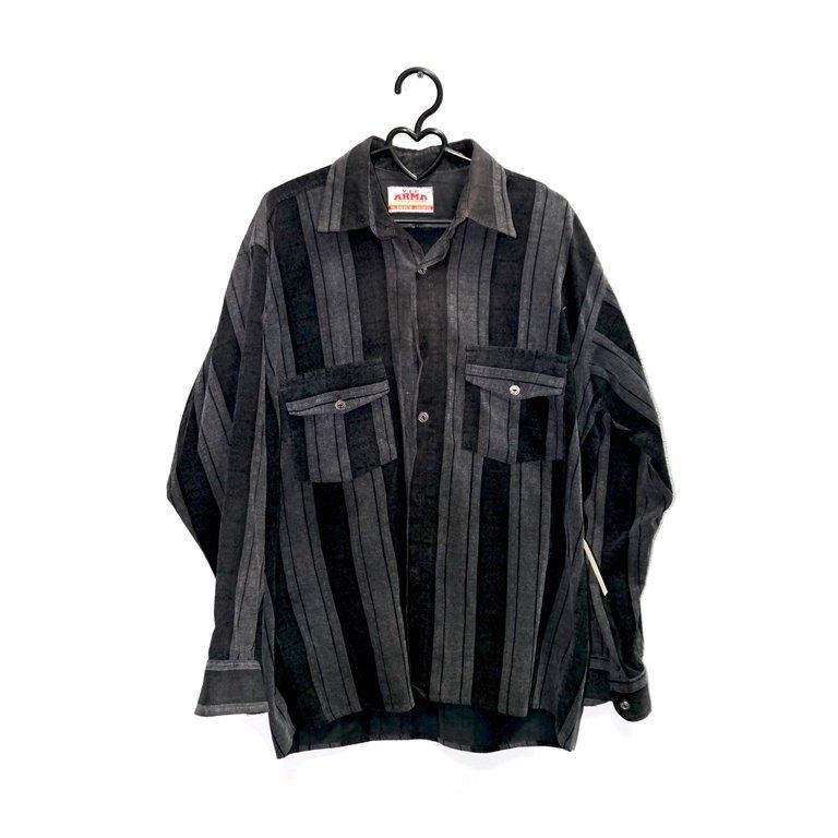 Рубашка мужская полосатая черная в Челябинске
