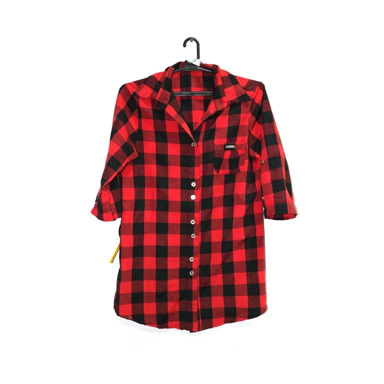 Рубашка женская в красно-черную клетку в Челябинске