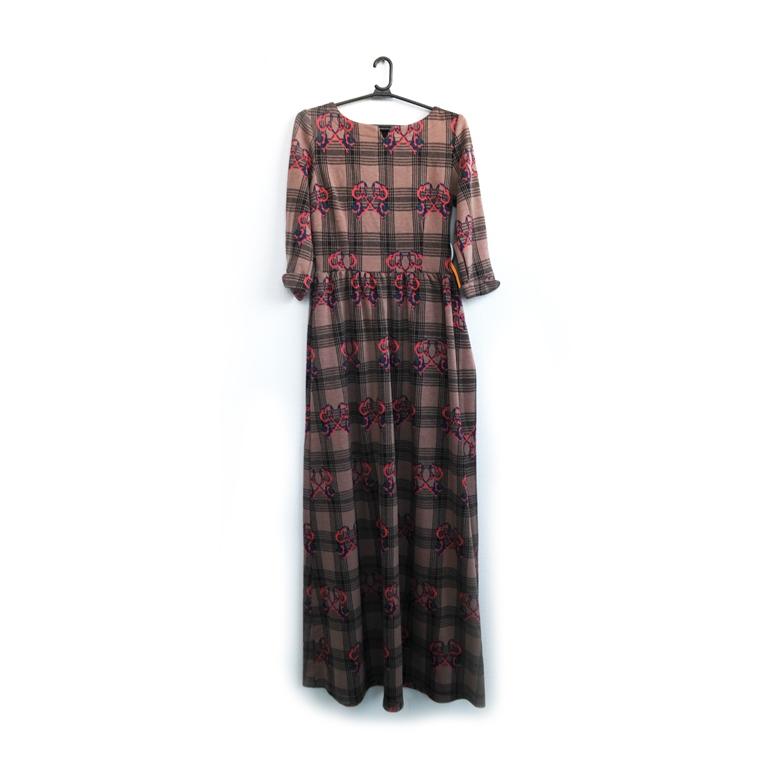 Платье женское теплое с принтом бантики в Москве