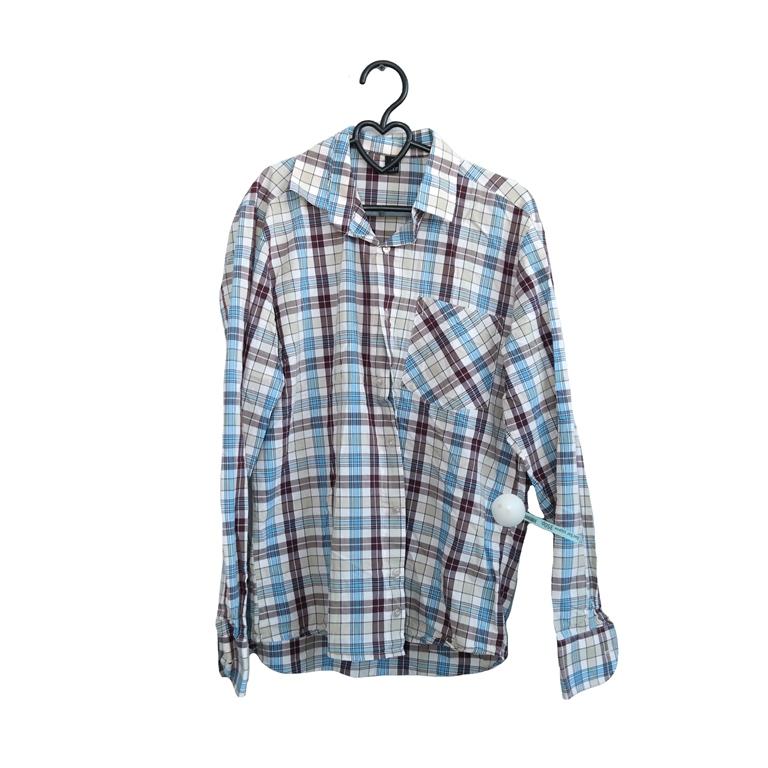 Мужская рубашка в клетку голубую в Челябинске