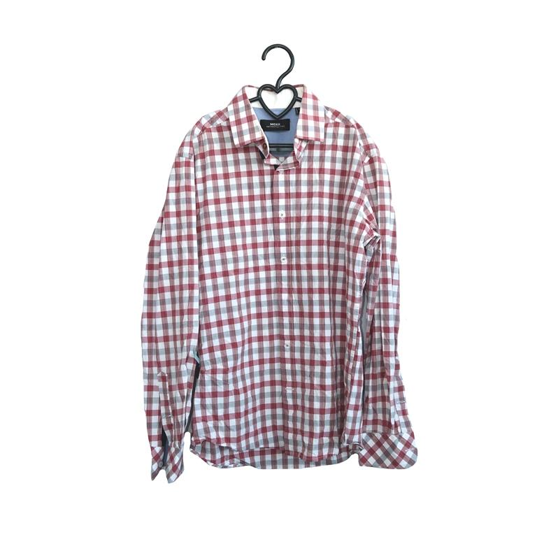Мужская рубашка в клетку красную в Челябинске