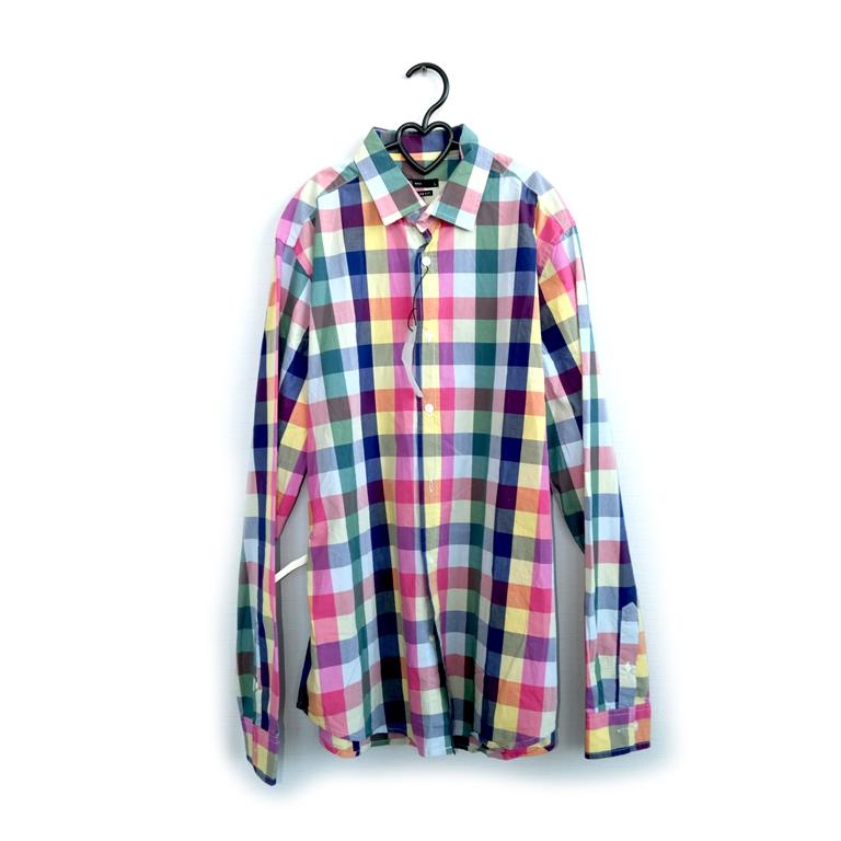 Мужская рубашка в разноцветную клетку в Москве