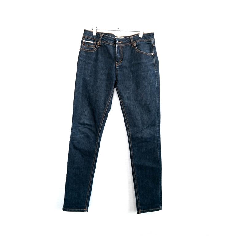 Мужские синие джинсы прямого кроя в Москве
