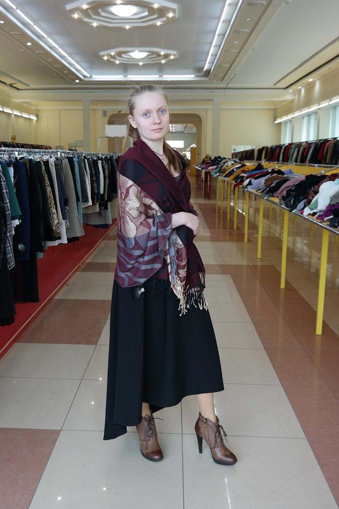 Образ в длинном платье