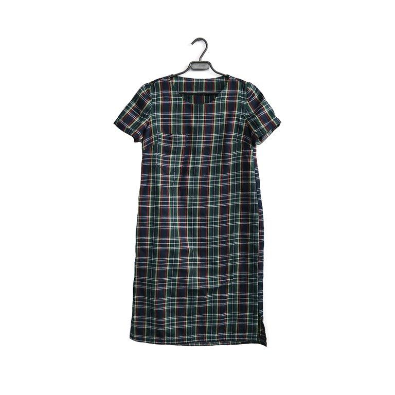 Платье женское в черно-зеленую клетку в Челябинске