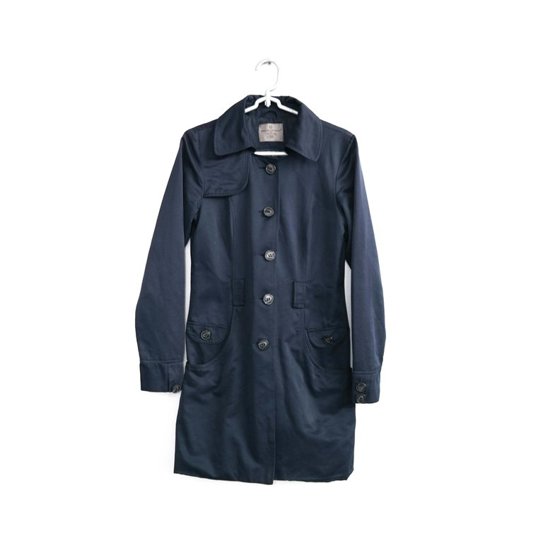 Синее женское пальто на пуговицах в Челябинске