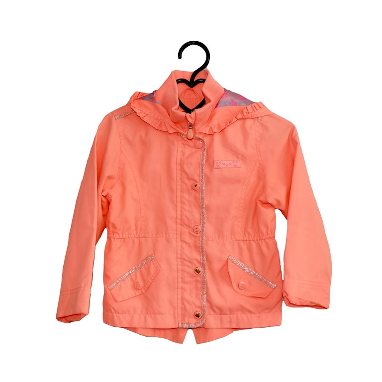 Детская куртка для девочек коралловая в Челябинске