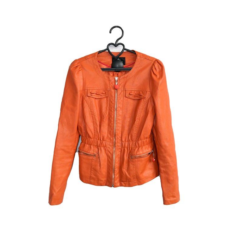 Куртка оранжевая женская на молнии в Челябинске