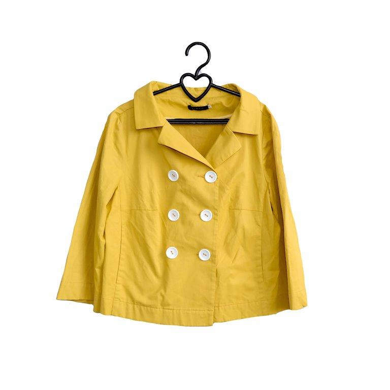 Пальто женское короткое желтое в Челябинске