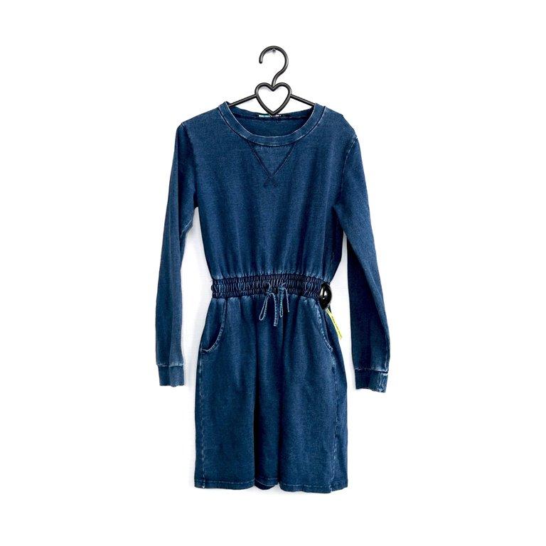 Женское платье из денима с поясом на резинке в Челябинске